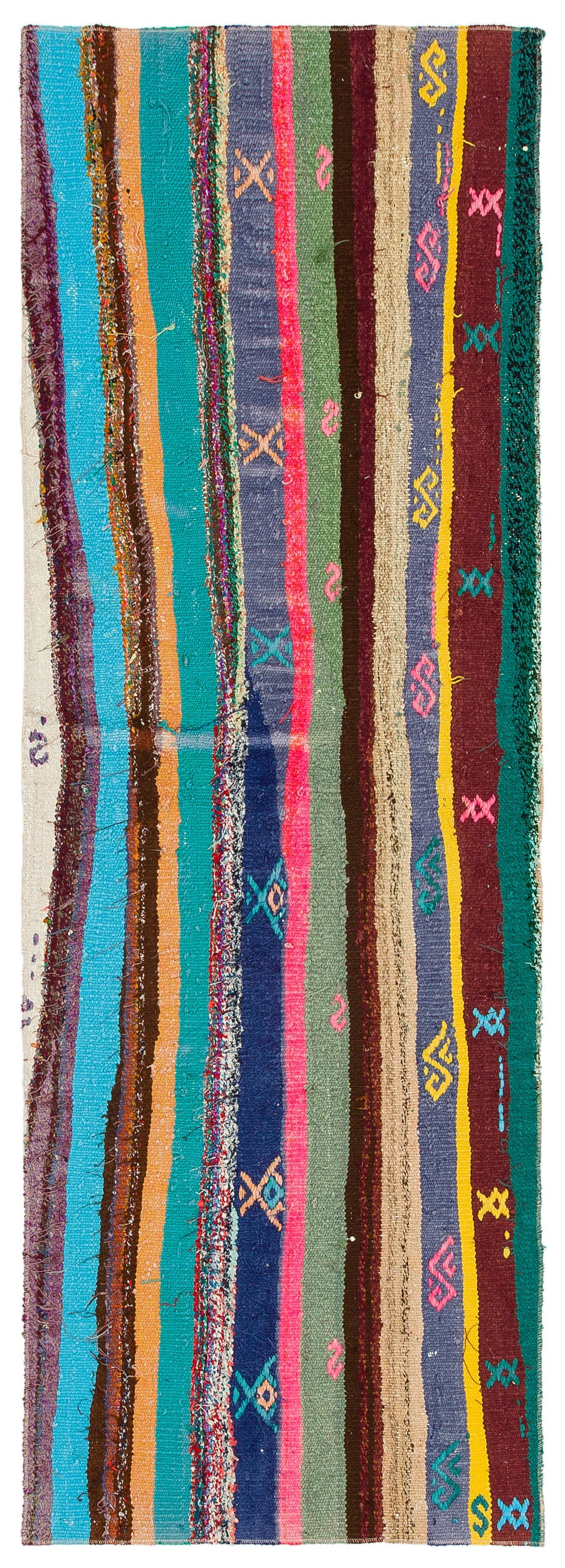Chaput Over Dyed Kilim Rug 1'12'' x 5'10'' ft 60 x 178 cm