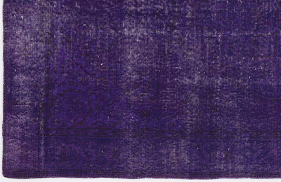 Purple Over Dyed Vintage Rug 5'0'' x 8'6'' ft 153 x 260 cm