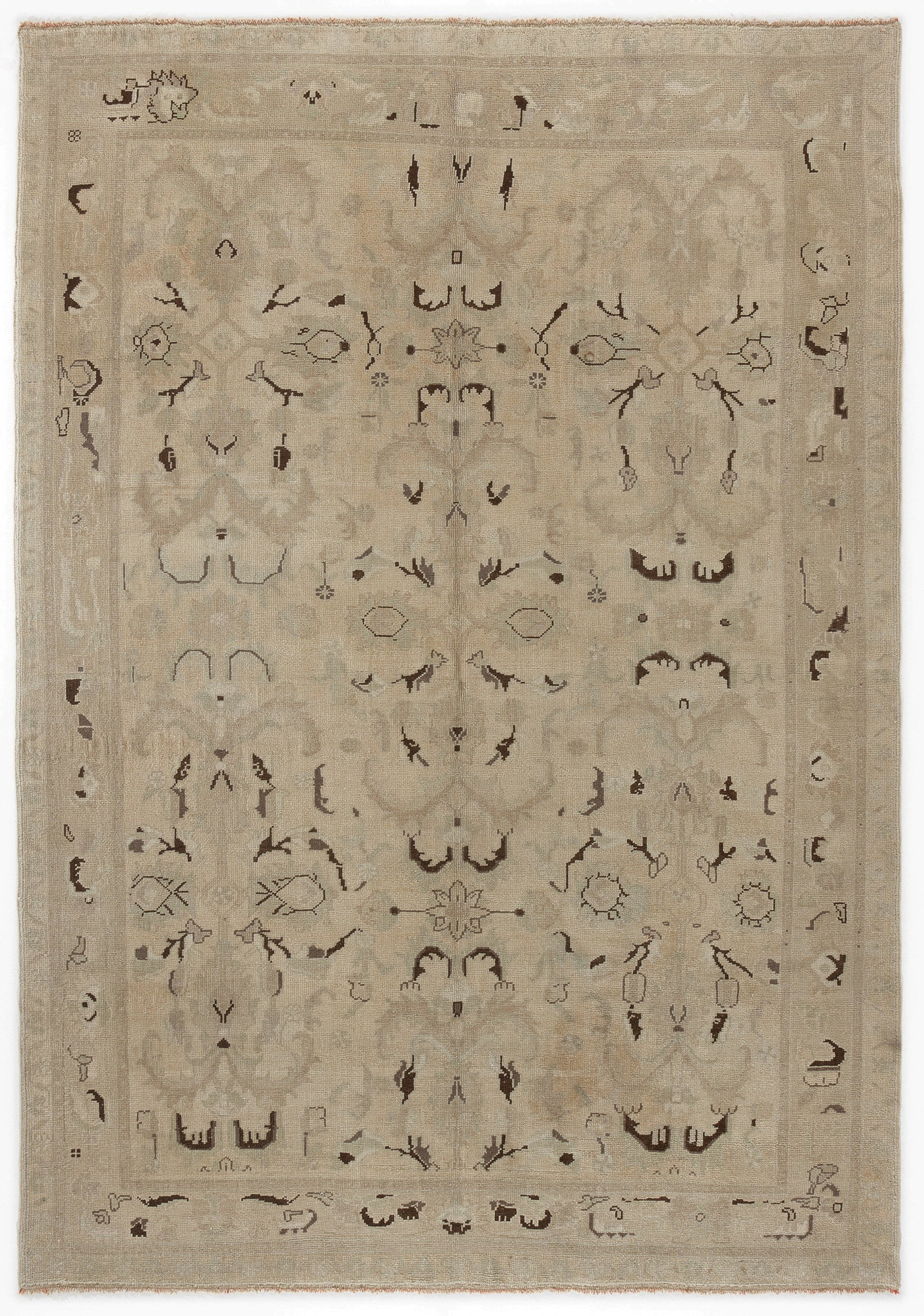 Beige Over Dyed Heritage Rug 6'6'' x 8'12'' ft 197 x 274 cm