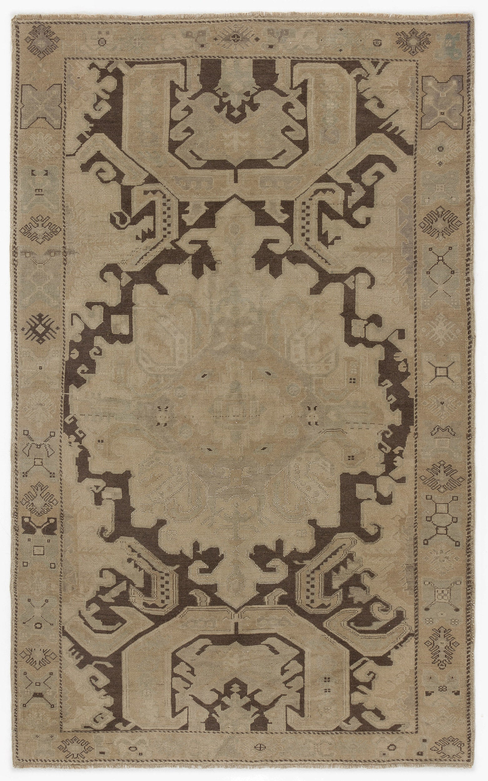 Beige Over Dyed Heritage Rug 5'5'' x 8'10'' ft 166 x 268 cm