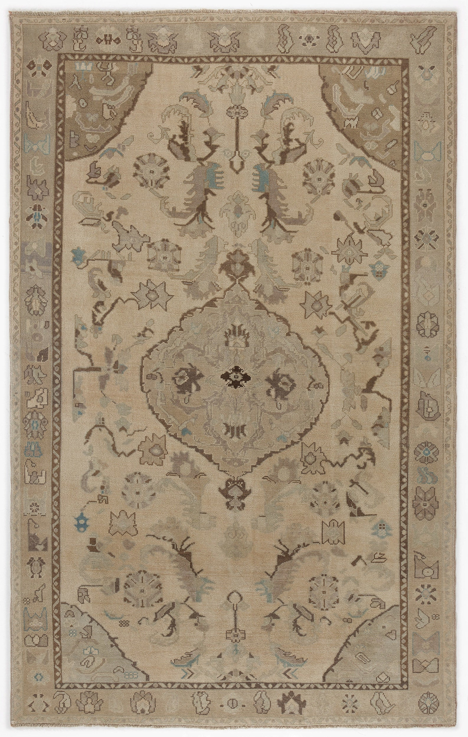 Beige Over Dyed Heritage Rug 6'2'' x 10'0'' ft 188 x 306 cm