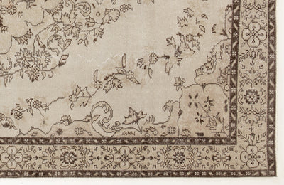 Beige Over Dyed Vintage Rug 5'10'' x 9'9'' ft 178 x 298 cm