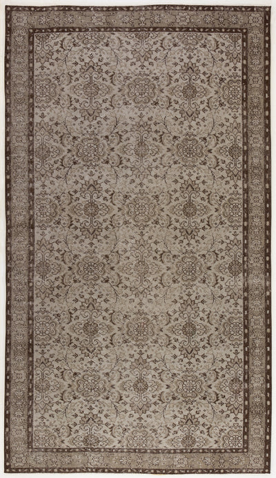 Gray Over Dyed Vintage Rug 5'0'' x 8'11'' ft 153 x 271 cm