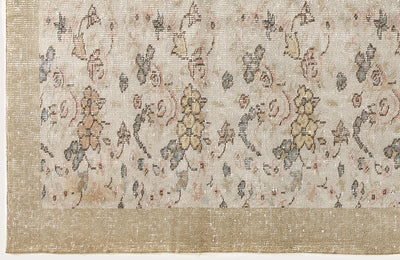 Beige Over Dyed Vintage Rug 6'2'' x 9'10'' ft 187 x 300 cm