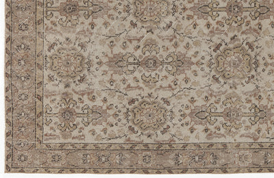 Beige Over Dyed Vintage Rug 3'8'' x 6'8'' ft 112 x 204 cm