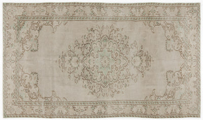 Beige Over Dyed Vintage Rug 5'9'' x 9'10'' ft 176 x 300 cm