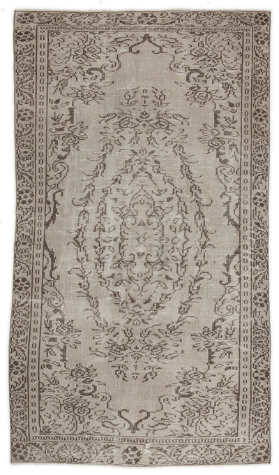 Beige Over Dyed Vintage Rug 4'10'' x 8'7'' ft 148 x 261 cm