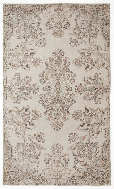 Beige Over Dyed Vintage Rug 6'2'' x 9'4'' ft 188 x 284 cm