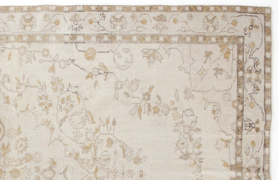 Beige Over Dyed Vintage Rug 6'0'' x 9'8'' ft 184 x 295 cm