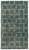 Retro Over Dyed Vintage Rug 3'7'' x 6'5'' ft 110 x 195 cm