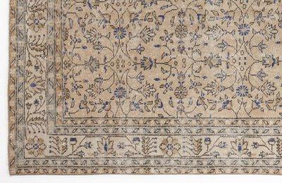 Beige Over Dyed Vintage Rug 5'12'' x 10'8'' ft 182 x 324 cm