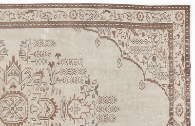 Beige Over Dyed Vintage Rug 5'1'' x 8'7'' ft 155 x 262 cm