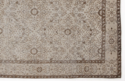 Beige Over Dyed Vintage Rug 4'12'' x 8'6'' ft 152 x 258 cm