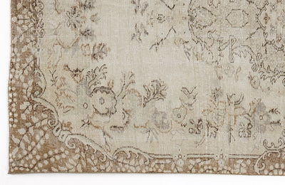 Beige Over Dyed Vintage Rug 5'1'' x 8'10'' ft 154 x 270 cm