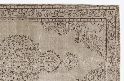 Beige Over Dyed Vintage Rug 4'11'' x 9'0'' ft 149 x 275 cm