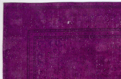 Fuchsia Over Dyed Vintage XLarge Rug 9'2'' x 12'10'' ft 280 x 390 cm