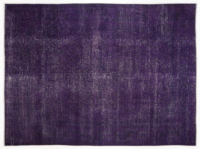 Purple Over Dyed Vintage XLarge Rug 9'10'' x 13'2'' ft 300 x 402 cm
