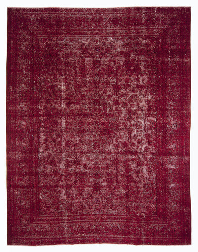 Red Over Dyed Vintage XLarge Rug 9'4'' x 12'4'' ft 285 x 375 cm