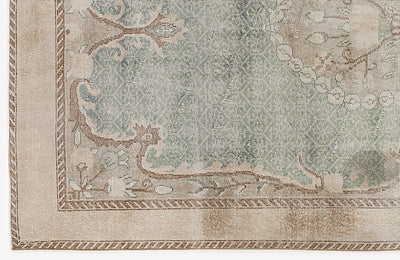 Beige Over Dyed Vintage Rug 5'9'' x 10'7'' ft 176 x 323 cm