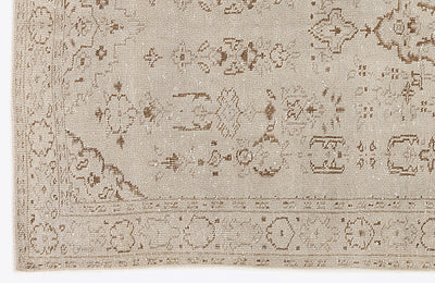Beige Over Dyed Vintage Rug 4'10'' x 8'10'' ft 147 x 270 cm