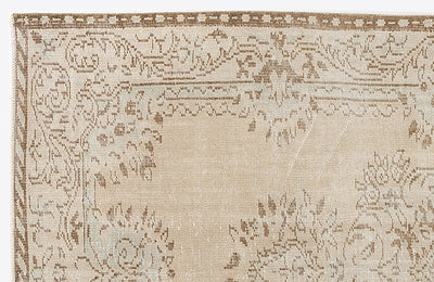Beige Over Dyed Vintage Rug 4'11'' x 8'8'' ft 151 x 263 cm