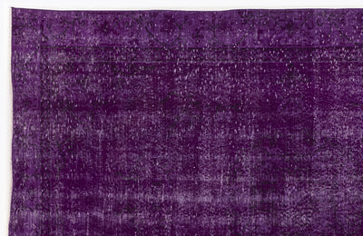 Purple Over Dyed Vintage Rug 5'7'' x 8'10'' ft 170 x 270 cm