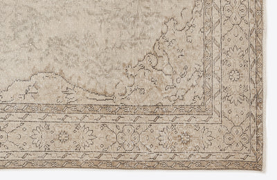 Beige Over Dyed Vintage Rug 5'10'' x 9'7'' ft 178 x 293 cm