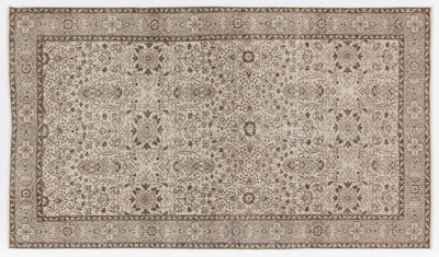 Beige Over Dyed Vintage Rug 4'10'' x 8'5'' ft 148 x 256 cm