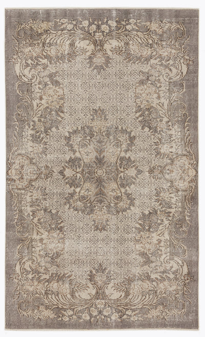 Beige Over Dyed Vintage Rug 5'4'' x 8'10'' ft 162 x 269 cm