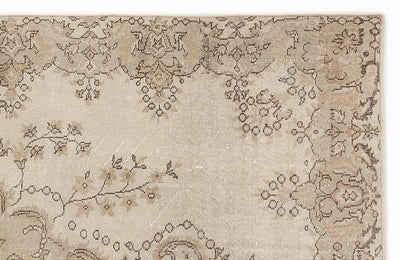 Beige Over Dyed Vintage Rug 5'11'' x 9'11'' ft 180 x 301 cm