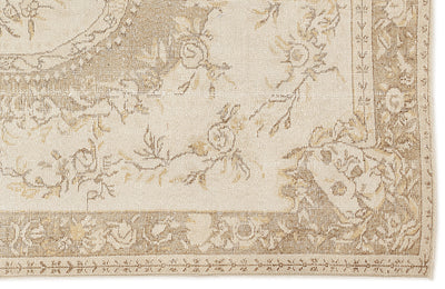Beige Over Dyed Vintage Rug 5'11'' x 9'11'' ft 180 x 303 cm