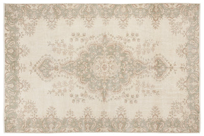 Beige Over Dyed Vintage Rug 5'10'' x 8'9'' ft 178 x 266 cm