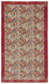 Retro Over Dyed Vintage Rug 5'3'' x 9'6'' ft 160 x 290 cm