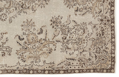 Beige Over Dyed Vintage Rug 5'7'' x 9'10'' ft 170 x 300 cm