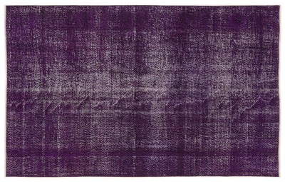 Purple Over Dyed Vintage Rug 5'3'' x 8'4'' ft 160 x 255 cm