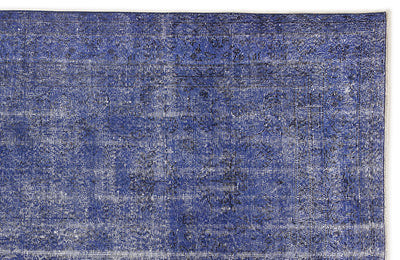 Blue Over Dyed Vintage Rug 6'1'' x 10'0'' ft 186 x 306 cm