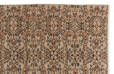Beige Over Dyed Vintage Rug 6'0'' x 8'8'' ft 184 x 263 cm