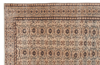 Naturel Over Dyed Vintage Rug 5'7'' x 8'12'' ft 171 x 274 cm