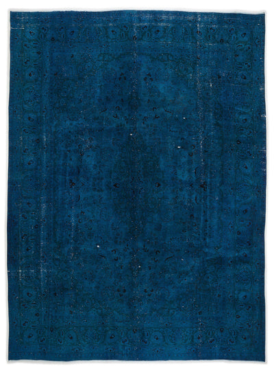 Turquoise  Over Dyed Vintage XLarge Rug 9'3'' x 12'6'' ft 282 x 381 cm