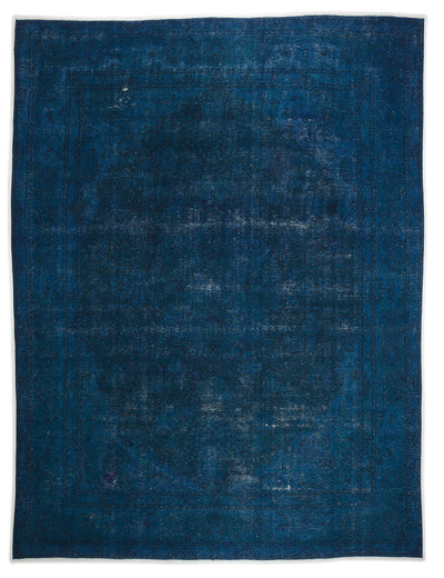 Turquoise  Over Dyed Vintage XLarge Rug 9'7'' x 12'9'' ft 293 x 388 cm