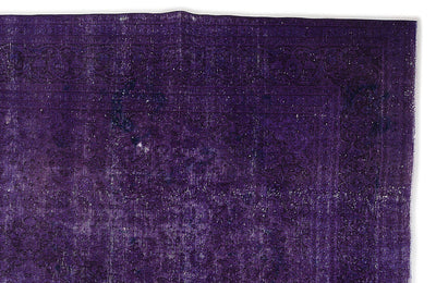 Purple Over Dyed Vintage XLarge Rug 9'8'' x 12'10'' ft 294 x 390 cm