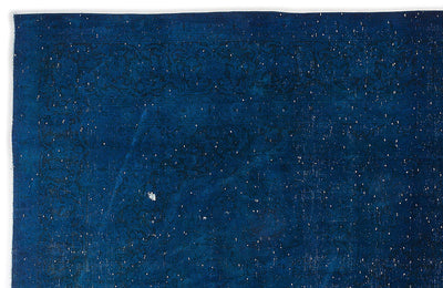 Blue Over Dyed Vintage XLarge Rug 9'6'' x 13'7'' ft 290 x 414 cm