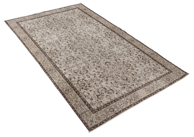 Beige Over Dyed Vintage Rug 5'7'' x 9'7'' ft 171 x 292 cm