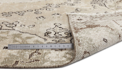 Beige Over Dyed Vintage Rug 5'2'' x 8'10'' ft 158 x 270 cm