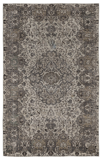 Naturel Over Dyed Vintage Rug 5'5'' x 8'8'' ft 166 x 264 cm