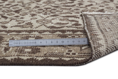 Beige Over Dyed Vintage Rug 3'9'' x 6'11'' ft 115 x 212 cm
