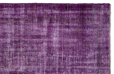 Fuchsia Over Dyed Vintage Rug 5'2'' x 8'2'' ft 157 x 250 cm