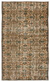 Retro Over Dyed Vintage Rug 4'5'' x 7'5'' ft 134 x 225 cm