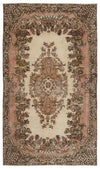 Naturel Over Dyed Vintage Rug 5'4'' x 9'5'' ft 163 x 288 cm