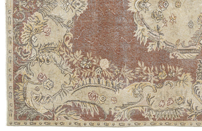 Naturel Over Dyed Vintage Rug 5'9'' x 9'2'' ft 174 x 280 cm